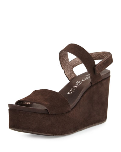 Dulce Suede Wedge Sandal, Silt