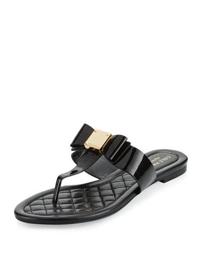 Tali Bow T-Strap Sandal, Black