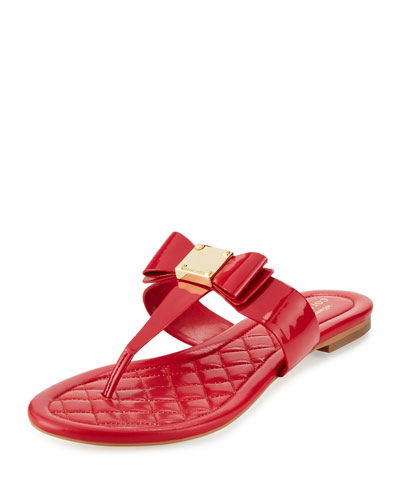 Tali Bow T-Strap Sandal, Tingo Red