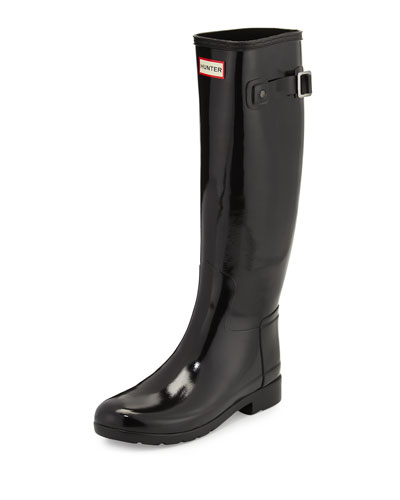 Original Refined Gloss Rain Boot, Black