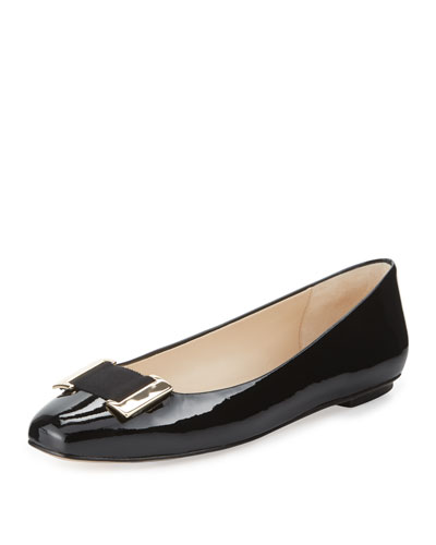 Froth Patent Buckle Flat, Black
