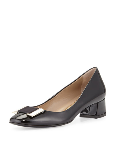 Pasha Patent Ornament 35mm Pump, Black