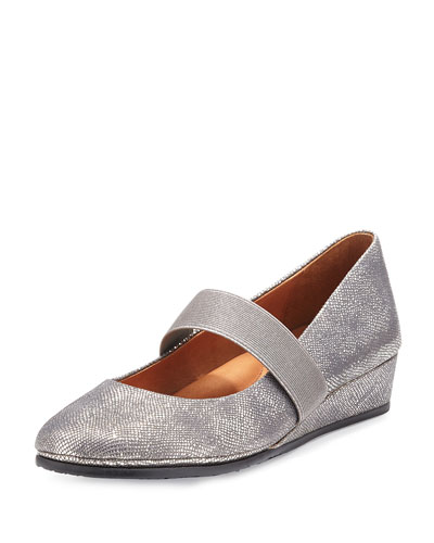 Aria Demi-Wedge Mary Jane Pump, Charcoal