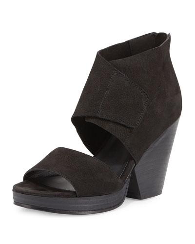Clip Leather d'Orsay 100mm Sandal, Black