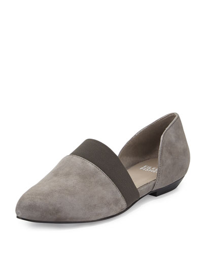 Flute Pointed-Toe d'Orsay Flat, Graphite