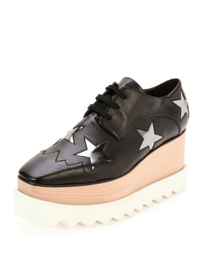 ELYSE STAR PLATFORM OXFORD, BLACK/ZYNC