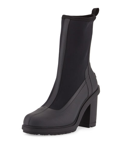 Original High-Heel Sock Boot, Black