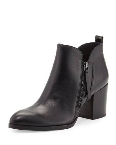 Edyn Pointed-Toe Leather Pump, Black