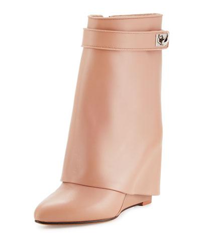 covered wedge heel boots neiman