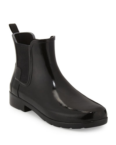 Original Refined Gloss Chelsea Rain Boot, Black