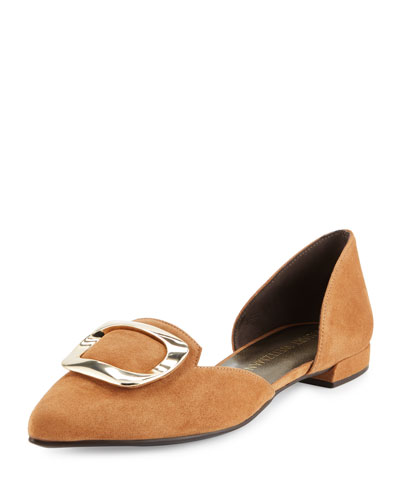 Dorsini Suede d'Orsay Flat, Toffee