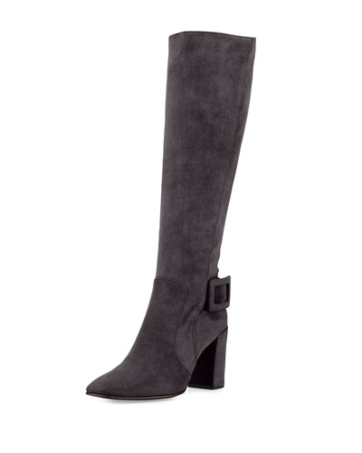 Botte Polly Suede Knee Boot, Gray