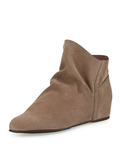 Sprite Slouchy Suede Wedge Bootie, Topo