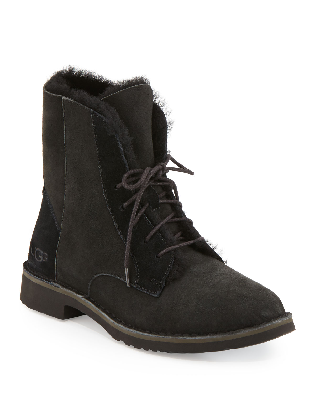 Quincy Shearling Fur Combat Boot