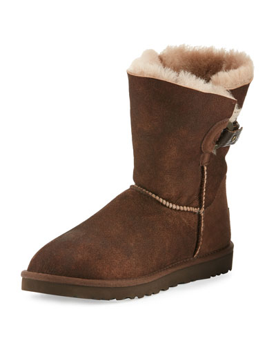 Nash Aviator Shearling Fur Boot, Chocolate