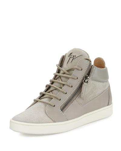 Breck Suede Side-Zip Sneaker, Sloane