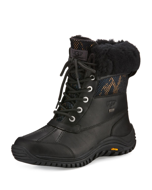 Adirondack II Snake-Print Hiker Boot, Black