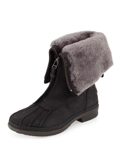 Arquette Waterproof Shearling Boot, Black
