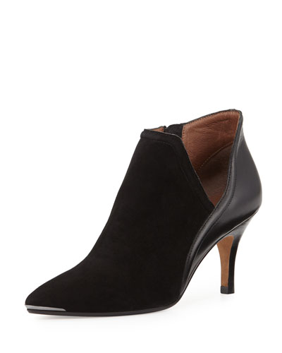 Talia Pointed-Toe Ankle Boot, Black