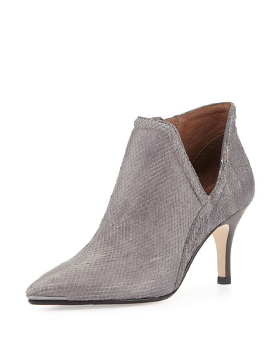 Talia Pointed-Toe Ankle Boot, Cloud Gray