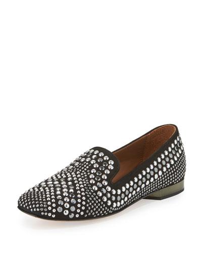 Henly Studded Suede Loafer, Black