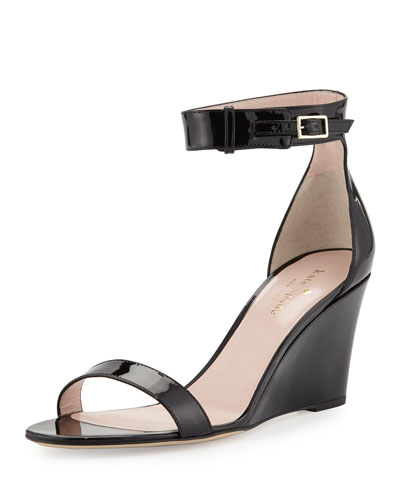 ronia naked wedge sandal, black