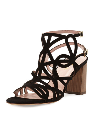 estrella strappy city sandal, black