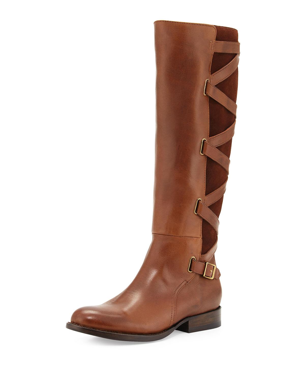 Jordan Strappy Knee Boot, Wood
