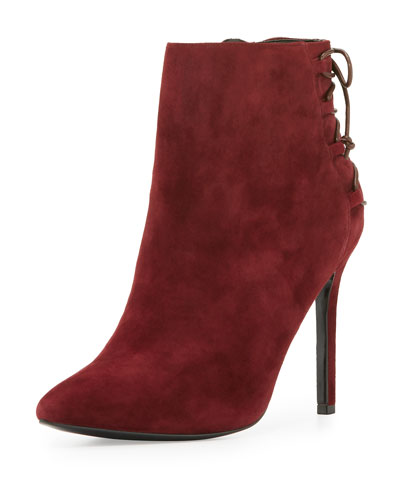 Catherine Suede 95mm Bootie, Cabernet