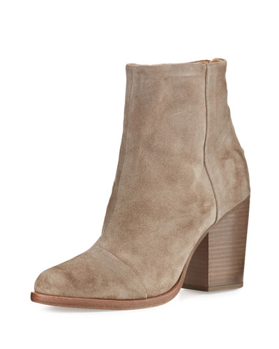 Ashby Suede Ankle Boot, Stone