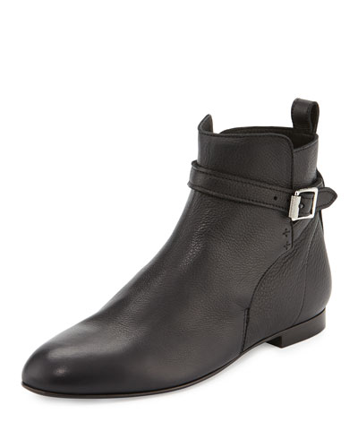 Nolan Leather Ankle Boot, Black