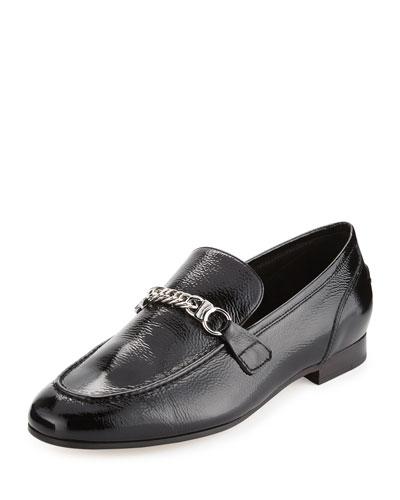 Cooper Patent Chain Loafer, Black