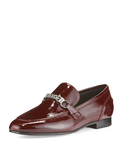Cooper Patent Chain Loafer, Bordeaux