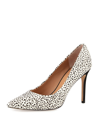 Courtney Dalmatian-Print Pointed-Toe Pump, Dalmation