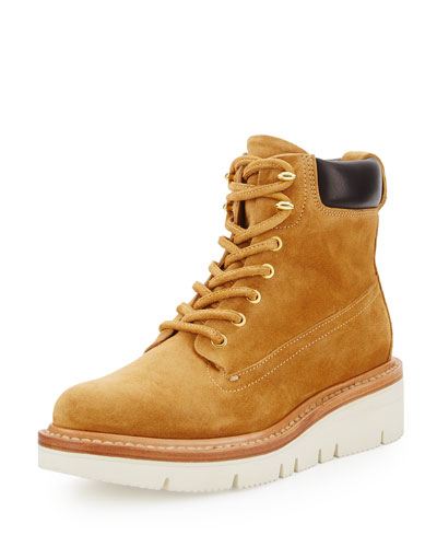 Camden Suede Hiker Boot, Ochre