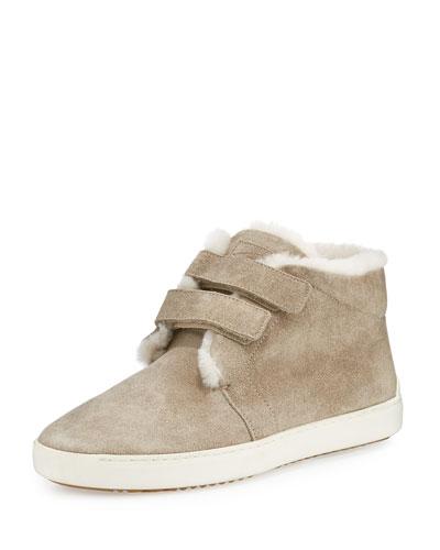 Kent Shearling Desert Sneaker, Stone