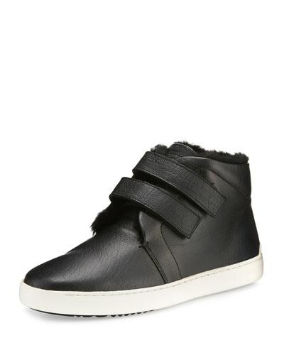 Kent Shearling Desert Sneaker, Black