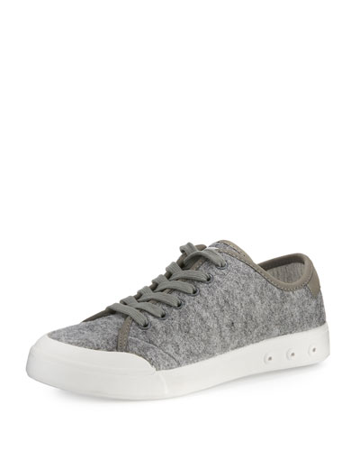 Standard Issue Wool Lace-Up Sneaker, Gray