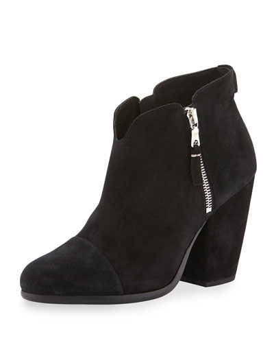 Margot Suede Ankle Boot, Black