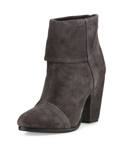 Classic Newbury Suede Ankle Boot, Asphalt