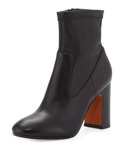 Calista Leather Ankle Boot, Black