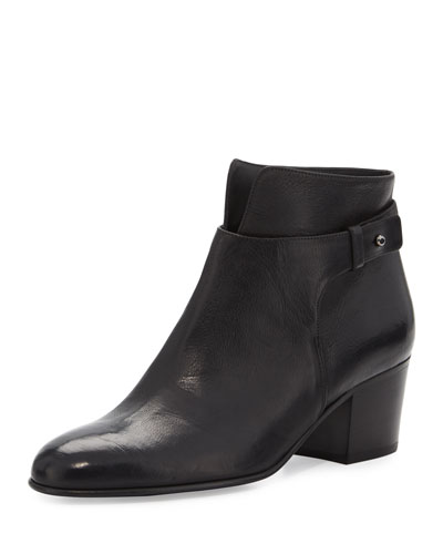 Harriet Leather Ankle Boot, Black