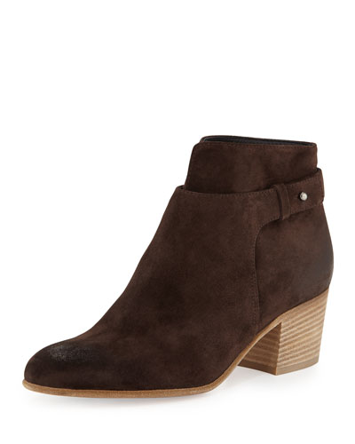 Harriet Suede Ankle Boot, Peat