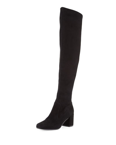 Blythe Leather 75mm Over-the-Knee Boot, Black