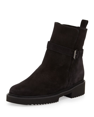 Claudia Shearling Ankle Boot, Black