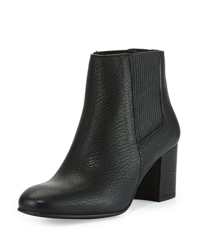 Xolani Leather Ankle Boot, Black Kripton