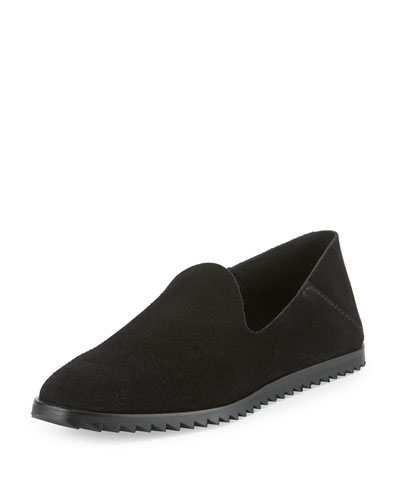 Yoshi Suede Slip-On Loafer, Black