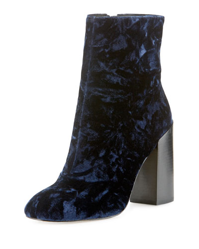 Bojana Velvet 100mm Ankle Boot, Midnight