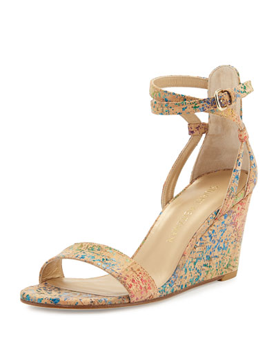 Backdraft Cork Wedge Sandal, Confetti