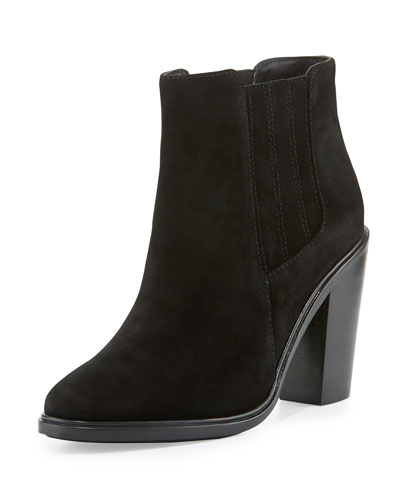 Cloee Suede Ankle Boot, Black